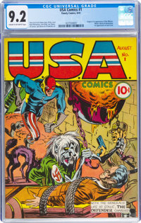 USA Comics #1 (Timely, 1941) CGC NM- 9.2 Cream to off-white pages
