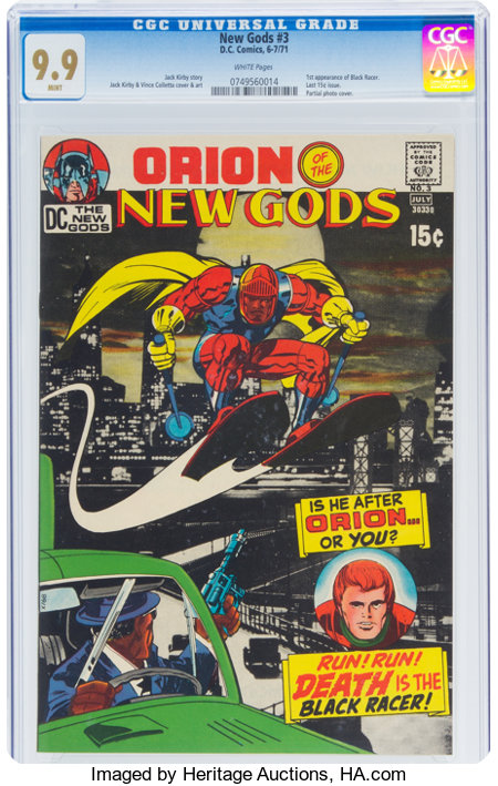 The New Gods #3 (DC, 1971) CGC MT 9.9 White pages....