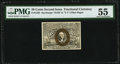 Fr. 1322 50¢ Second Issue PMG About Uncirculated 55