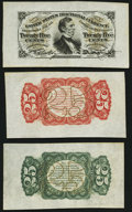 Fractional Currency:Third Issue, Fr. 1291SP 25¢ Third Issue Wide Margin Trio Choice New.. ... (Total: 3 notes)