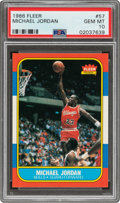 Basketball Cards:Sets, 1986 Fleer Basketball Cards Complete Set (132) - Every Card Graded PSA Gem Mint 10! ...