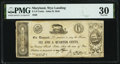 Obsoletes By State:Maryland, Wye Landing, MD- John H. Holt 6 1/4¢ Oct. 28, 1839 PMG Very Fine 30.. ...