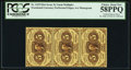 Fractional Currency:First Issue, Fr. 1229 5¢ First Issue Vertical Strip of Three PCGS Choice About New 58PPQ.. ...