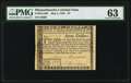 Colonial Notes:Massachusetts, Massachusetts May 5, 1780 $7 Uncancelled PMG Choice Uncirculated 63.. ...