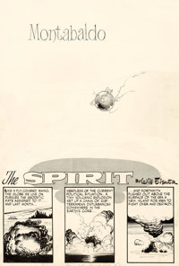"""Will Eisner The Spirit Weekly Newspaper Section Complete 7-Page Story """"Montabaldo"""" Original Art dated 1-25-48..."""