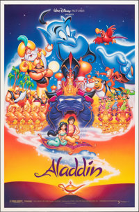 "Aladdin & Other Lot (Buena Vista, 1992). Rolled, Very Fine. One Sheets (2) (27"" X 41"" & 27"" X 40&..."
