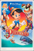 """Movie Posters:Animation, Pinocchio (Buena Vista, R-1992). Rolled, Very Fine+. One Sheets (2) (27"""" X 40"""") DS, Regular & Advance. Animation.. ... (Total: 2 Items)"""