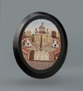 Jewelry, An Italian Micro Mosaic Brooch Depicting St. Peter's Square, late 19th century . 1-1/2 x 1-1/4 x 1/4 inches (3.8 x 3.2 x 0.6...