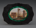 Other, An Italian Micro Mosaic Paper Weight Depicting a View of the Roman Forum, late 19th century . 3-3/8 x 4-3/4 x 1/2 inches (8....