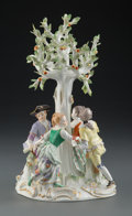 Ceramics & Porcelain, A Meissen Porcelain Figural Group: Ring Around the Rosie, Germany, early 19th century . Marks: (crossed swords in un...