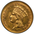 "Three Dollar Gold Pieces, 1888 $3 -- Altered Surfaces -- PCGS Genuine. Unc Details. Mintage 5,000.. From The James Dines ""Original Goldbug"" ..."