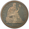 """1868 $1 -- Altered Surfaces -- PCGS Genuine. Proof, Unc Details. Mintage 600. From The James Dines """"Original Gold..."""