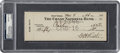 Baseball Collectibles:Others, 1946 Babe Ruth Dual-Signed Check, PSA/DNA Gem Mint 10....