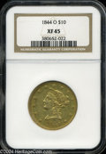 Liberty Eagles: , 1844-O $10 XF45 NGC. An attractive early O-mint issue, ...