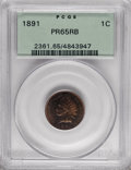 Proof Indian Cents: , 1891 1C PR65 Red and Brown PCGS. PCGS Population (27/1). NGCCensus: (43/5). Mintage: 2,350. Numismedia Wsl. Price for NGC/...