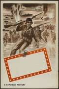 "Movie Posters:War, Republic Studios WWII Stock Poster (Republic, 1948). One Sheet (27""X 41"") Tri-Folded. War...."