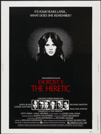 """Exorcist II: The Heretic (Warner Brothers, 1977). Poster (30"""" X 40""""). Horror"""