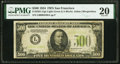 Small Size:Federal Reserve Notes, Fr. 2201-L $500 1934 Light Green Seal Federal Reserve Note. PMG Very Fine 20.. ...