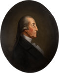 Political:3D & Other Display (pre-1896), George Washington: Early, Well-Executed Oil on Canvas Portrait....