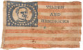 Political:Textile Display (pre-1896), Samuel Tilden: Prohibitively Rare Portrait Flag....