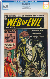 Web of Evil #12 (Quality, 1954) CGC FN 6.0 Off-white to white pages