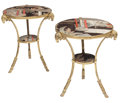 Furniture, A Pair of French Neoclassical-Style Gilt Bronze and Coromandel Two-Tier Tables. 29 x 26 inches (73.7 x 66.0 cm) (each). ... (Total: 2 Items)