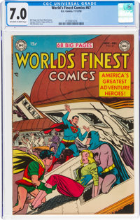 World's Finest Comics #67 (DC, 1953) CGC FN/VF 7.0 Off-white to white pages