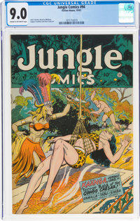 Jungle Comics #94 (Fiction House, 1947) CGC VF/NM 9.0 Cream to off-white pages