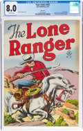 Golden Age (1938-1955):Adventure, Four Color #167 The Lone Ranger - File Copy (Dell, 1947) CGC VF 8.0 Off-white pages....