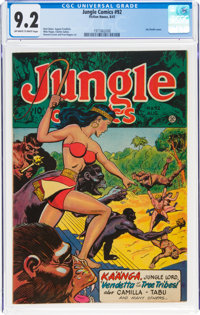 Jungle Comics #92 (Fiction House, 1947) CGC NM- 9.2 Off-white to white pages