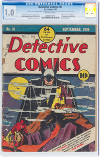 Detective Comics #31 (DC, 1939) CGC FR 1.0 Off-white pages