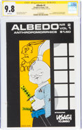 Modern Age (1980-Present):Miscellaneous, Albedo #2 Signature Series - Signed and Sketch by Stan Sakai (Thoughts and Images, 1984) CGC NM/MT 9.8 White pages....