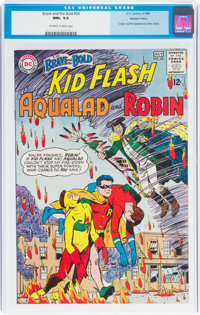 The Brave and the Bold #54 Kid Flash, Aqualad, and Robin - Western Penn Pedigree (DC, 1964) CGC NM+ 9.6 Off-white to whi...