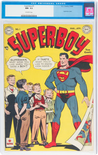 Superboy #1 (DC, 1949) CGC NM- 9.2 Off-white pages