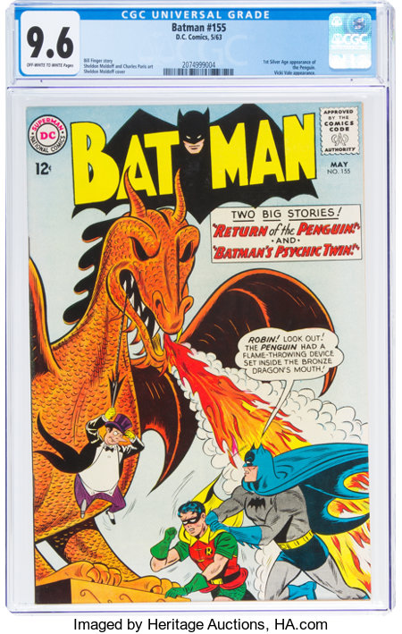 Batman #155 (DC, 1963) CGC NM+ 9.6 Off-white to white pages....