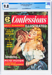 Confessions Illustrated #1 Gaines File Pedigree (EC, 1956) CGC NM/MT 9.8 Off-white to white pages