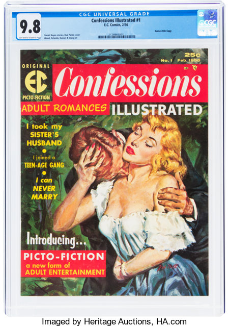 Confessions Illustrated #1 Gaines File Pedigree (EC, 1956) CGC NM/MT 9.8 Off-white to white pages....