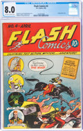 Golden Age (1938-1955):Superhero, Flash Comics #4 (DC, 1940) CGC VF 8.0 Off-white to white pages....