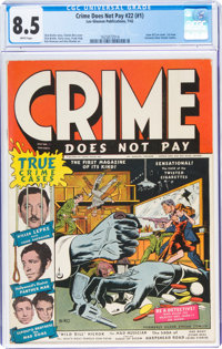 Crime Does Not Pay #22 (#1) (Lev Gleason, 1942) CGC VF+ 8.5 White pages