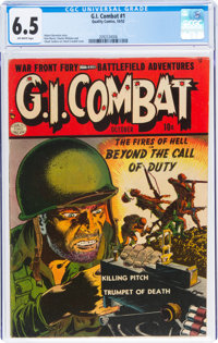 G.I. Combat #1 (Quality, 1952) CGC FN+ 6.5 Off-white pages