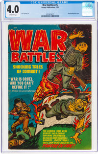 War Battles #5 (Harvey, 1952) CGC VG 4.0 Off-white pages