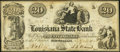 Obsoletes By State:Louisiana, New Orleans, LA- Louisiana State Bank Counterfeit $20 Apr. 4, 1852 Crisp Uncirculated.. ...