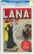 Golden Age (1938-1955):Humor, Lana #1 (Timely, 1948) CGC VG+ 4.5 Off-white pages....