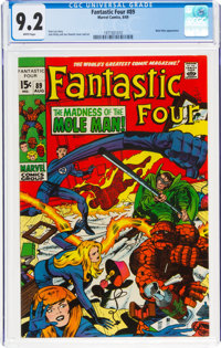 Fantastic Four #89 (Marvel, 1969) CGC NM- 9.2 White pages