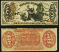 Fractional Currency:Third Issue, Fr. 1357aSP 50¢ Third Issue Justice Narrow Margin Pair About New.. ... (Total: 2 notes)