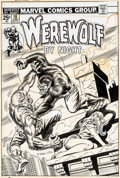 Original Comic Art:Covers, Ron Wilson and Frank Giacoia Werewolf by Night #18 Cover Original Art (Marvel, 1974)....