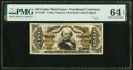 Fractional Currency:Third Issue, Fr. 1328 50¢ Third Issue Spinner PMG Choice Uncirculated 64 EPQ.. ...