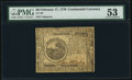 Colonial Notes:Continental Congress Issues, Continental Currency February 17, 1776 $6 PMG About Uncirculated 53.. ...