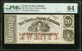 Obsoletes By State:North Carolina, Raleigh, NC- State of North Carolina $20 Jan. 1, 1863 Cr. 120 PMG Choice Uncirculated 64.. ...