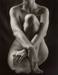 Ruth Bernhard (American, 1905-2006) Classic Torso with Hands, 1952 Gelatin silver, printed later